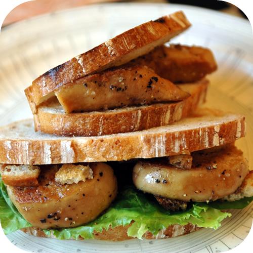フォアグラのサンドイッチ